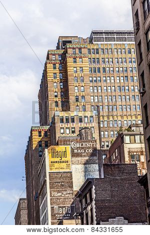 High Older Brick Buildings In New York