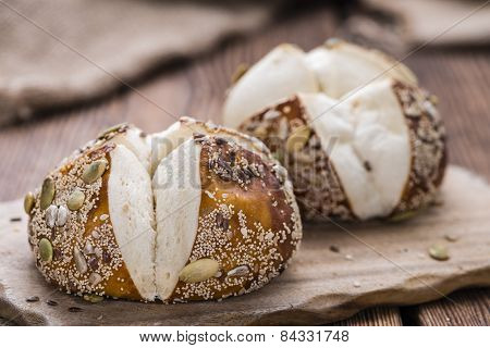 Some Pretzel Rolls With Seeds