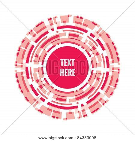 Abstract vector background. Many circles. Intersection of the rings. Abstract circles background.