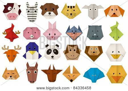 origami paper all animal face