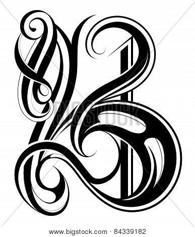 Calligraphic Letter B