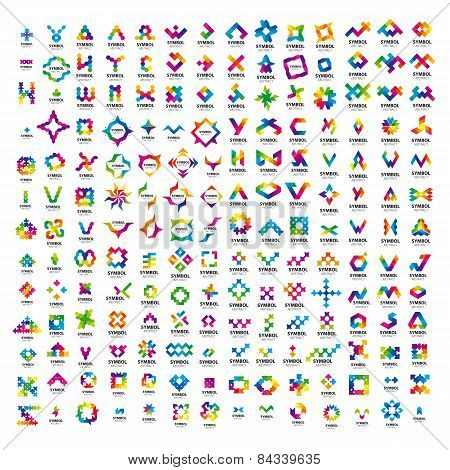 A Very Large Set Of Abstract Vector Icons