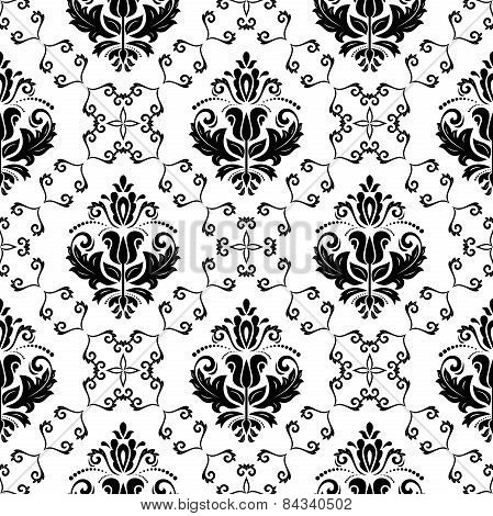 Wallpaper in the style of Baroquen. Abstract  Background. Black and White Colors
