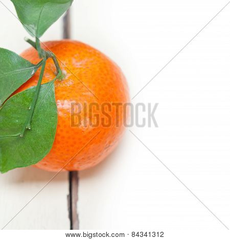 Tangerine Mandarin Orange On White Table