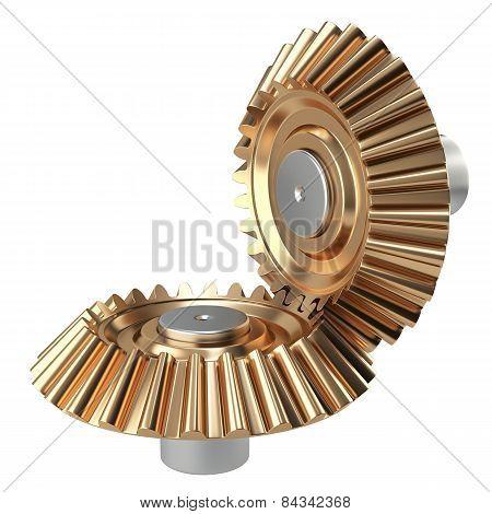 Brass Conical Gear Wheels Set