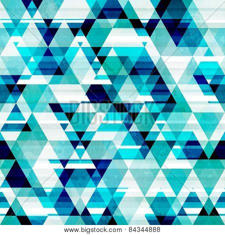 Crystal Triangle Seamless Pattern