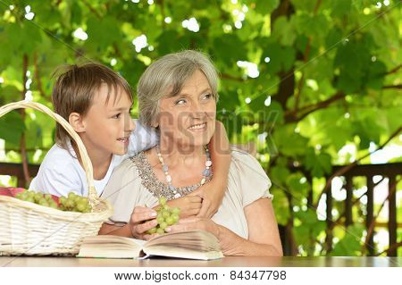 Grandmother with her grandson