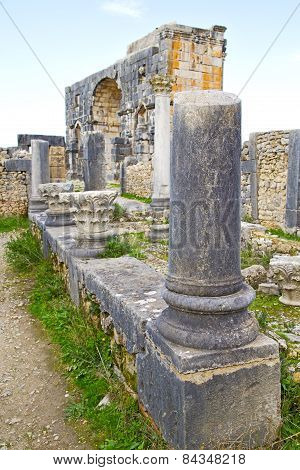 Volubilis In Morocco Africa The Site