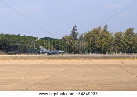 F-16 Show On Children's Day At Korat Wing 1 Royal Thai Airforce