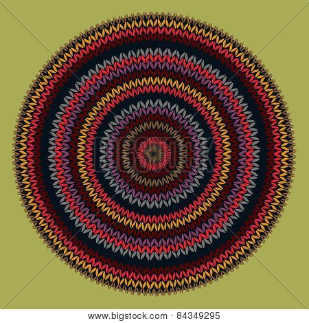 Style Circle Simple Color Vector Needlework Background, Ornament