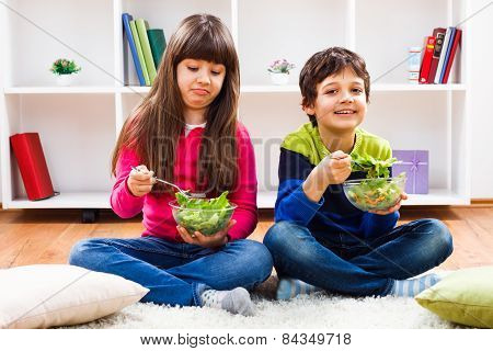One child likes to eat healthy,other doesn't like