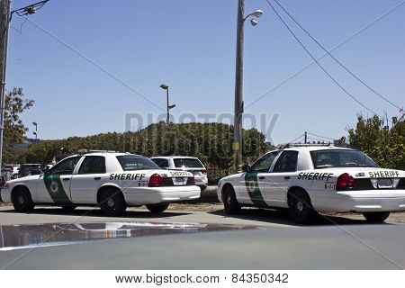 Sheriff Car In San Francisco Marin County Area