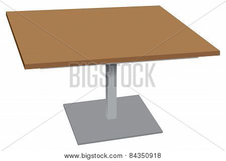 Wooden Table For Outdoor Environments