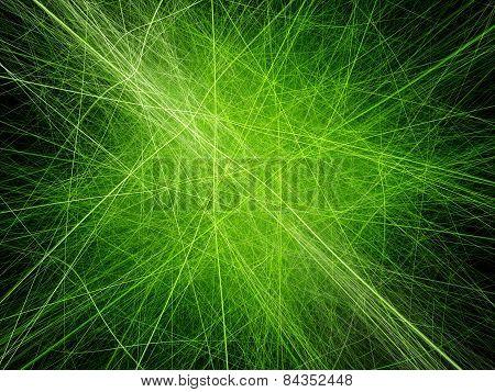 Vibrant Neon Green Lines Artwork