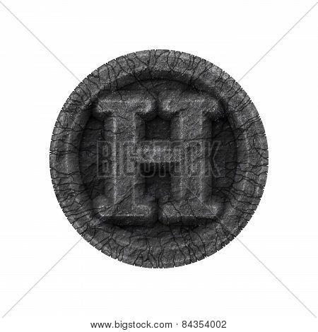 Grunge Font - Letter H