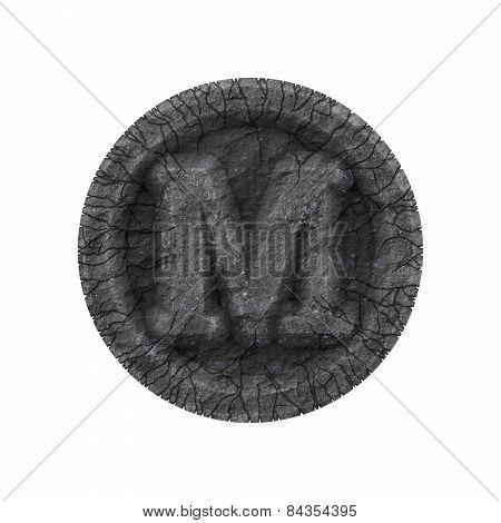 Grunge Font - Letter M