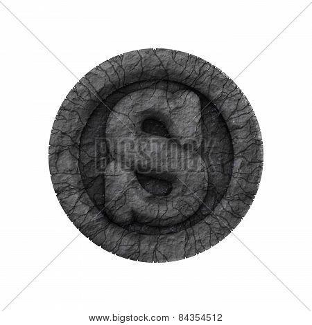 Grunge Font - Letter S