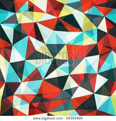 Retro Mosaic Triangle Seamless Pattern