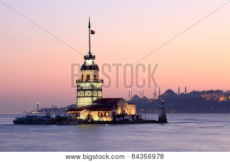 The Maiden's Tower , Istanbul, Turkey