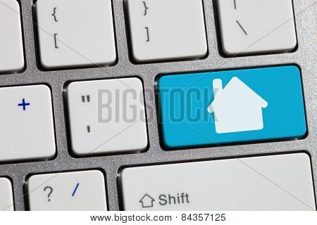 Computer Keyboard Concept Image House
