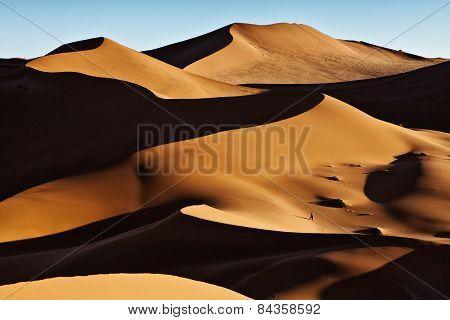 Large sand dunes in Sossusvlei, Namibia.
