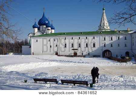 Cathedral Of The Nativity At Suzdal In Winter Day, Russia