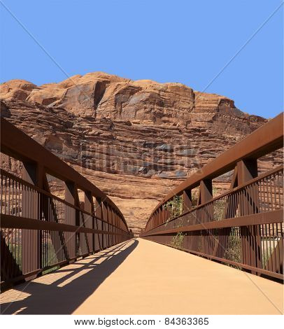Foot Bridge Across Colorado River