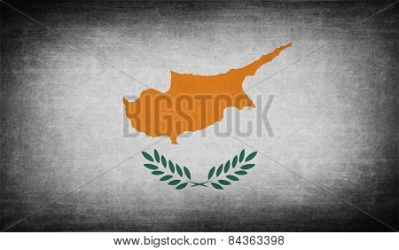 Flag Of Cyprus With Old Texture. Vector