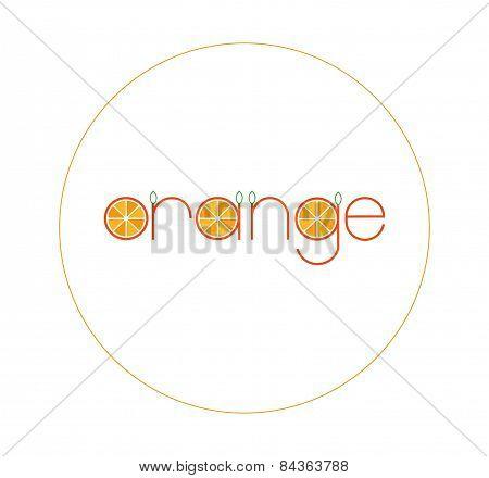 Orange logo vector illustration
