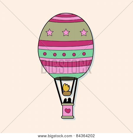 Hot Air Ballon Theme Elements Vector,eps