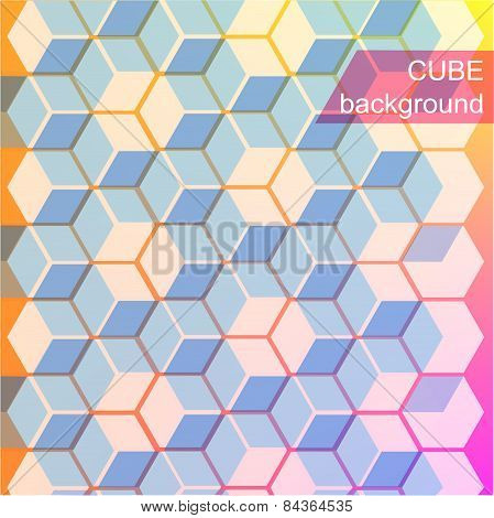 Abstract colorful background with cubes.