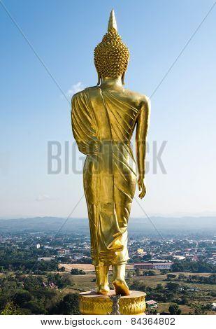 The Standind Buddha Statue Wat Prathat Koa Noi
