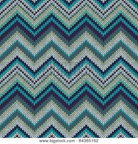 Seamless Geometric Spokes Knitted Pattern