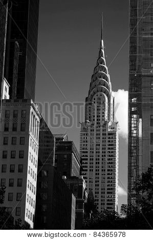 New York City Landmark In Black And White