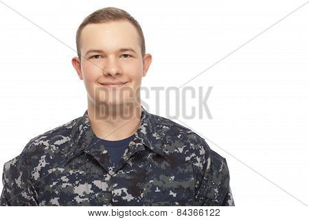 Smiling Navy Man