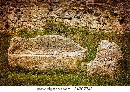 Parts Of Sarmizegetusa Dacian Ruins, Romania