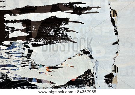 Torn Posters Grungy Paper Background