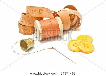 Thread, Meter And Yellow Buttons