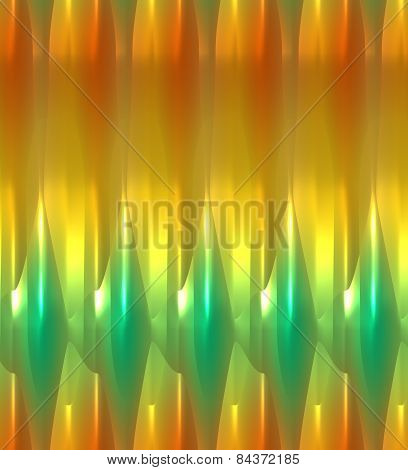 Green and yellow glowing abstract background in unique pattern.