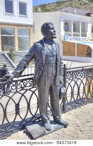 City Balaklava. Sculpture Of Writer Of Kuprin A.i.