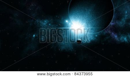 Space Eclipse Background