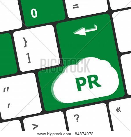 Marketing Concept: Computer Keyboard With Word Pr
