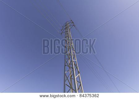 View Electrical Tower From Below