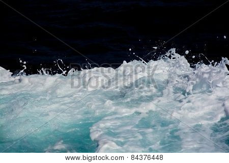 Abstract wake sea foam