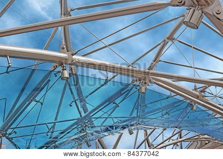 glass and steel structure