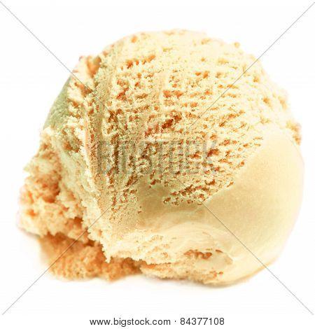 Ice Cream.  Scoop Of  Tiramisu Ice-cream