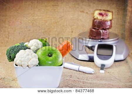 Healthy diet without diabetes