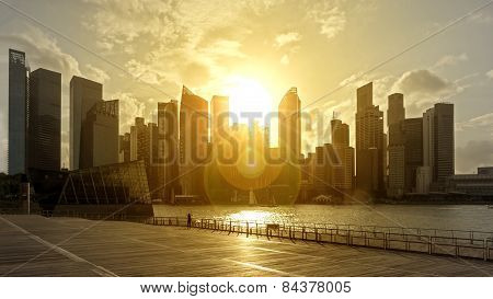 skyline in backlight