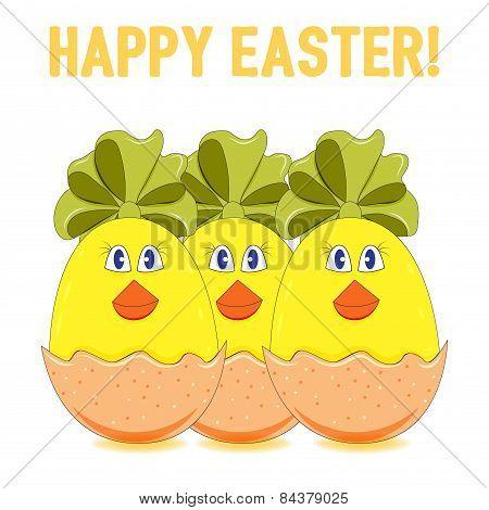 Easter Chicks Vector