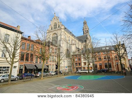 St. Paul's Church In The Center Of Antwerp, Belgium
